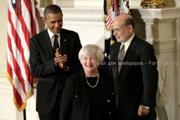 Барак Обама, Джаннет Йеллен, Бен Бернанке