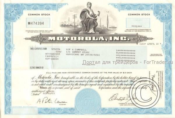 Рис. 1. Акция компании Motorolla.