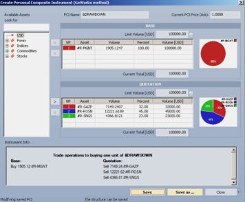 Инвестиционный портфель в интерфейсе GeWorko