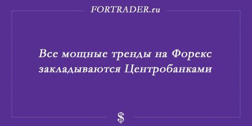 Мощные тренды на Forex