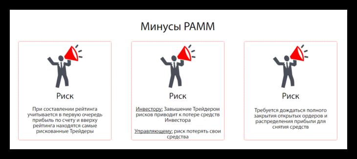 Минусы ПАММ счетов по версии StreamForex