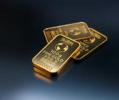 Gold climbs as stocks fall; Fed rate cut expectations provide continuing support