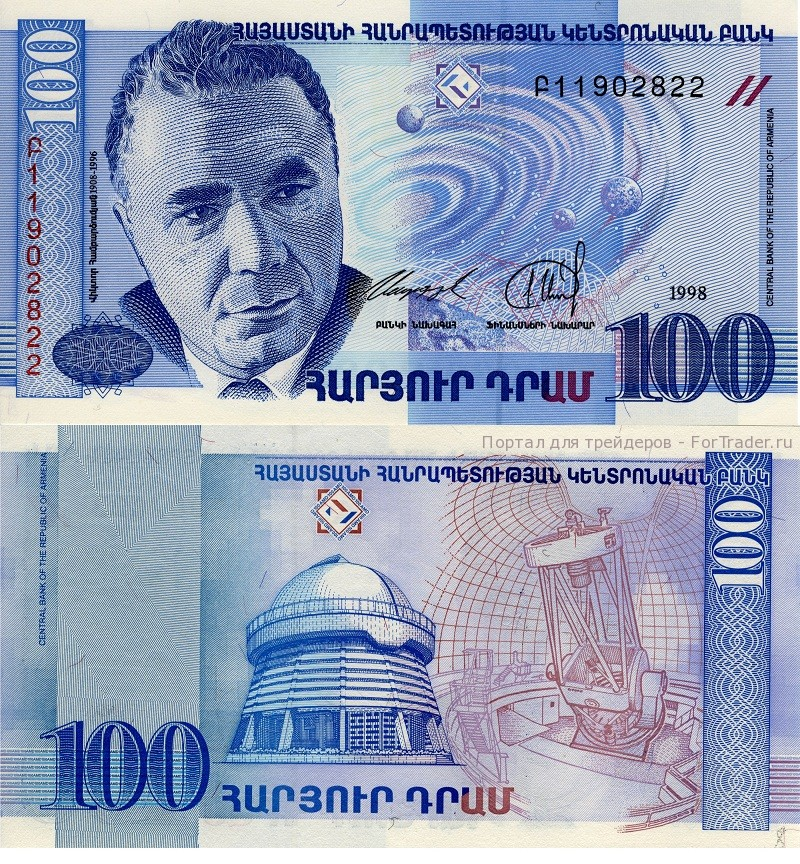 Армянский драм - 100