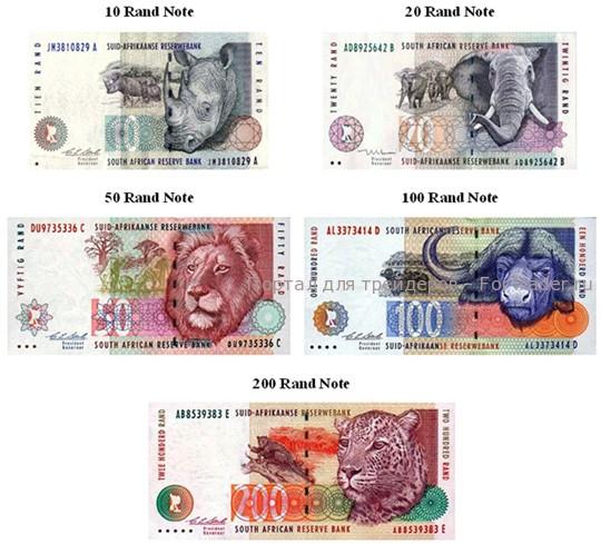 валюты ЮАР — ZAR