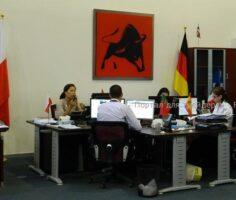Офис компании FxPro на Кипре: часть отдела поддержки