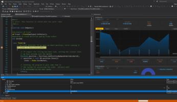 Рис. 5. AlgoStudio поддерживает язык программирования C#