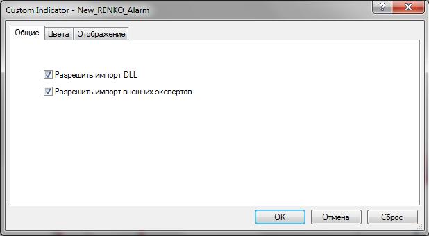 Информационный торговый индикатор New RENKO Alarm